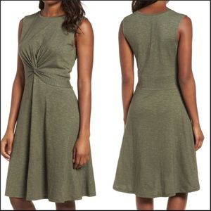 NWT Caslon Olive Sleeveless Dress Size Medium